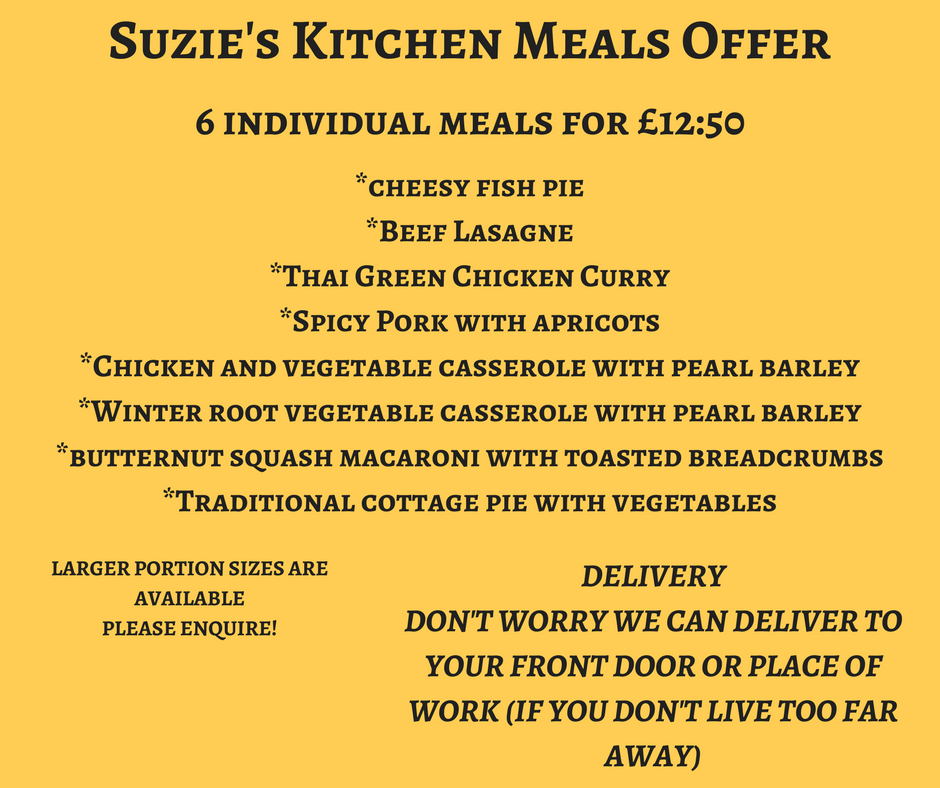 Suzie's Kitchen Mad March Meals Offer